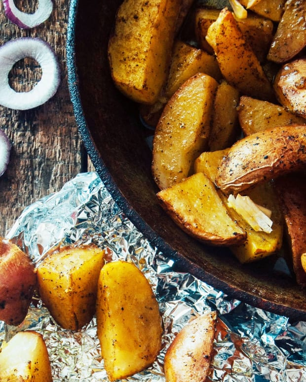 Greek Potatoes with Lemon & Garlic
