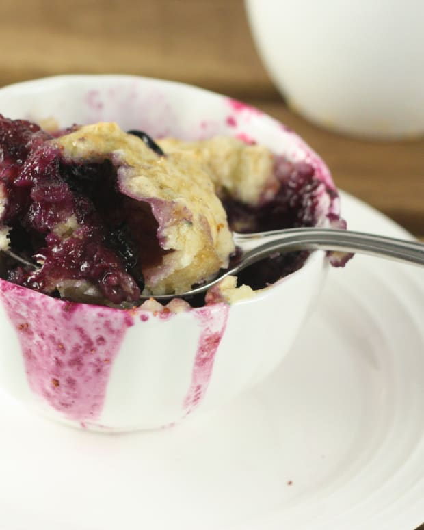 Blueberry Lemon Muffin in a Mug