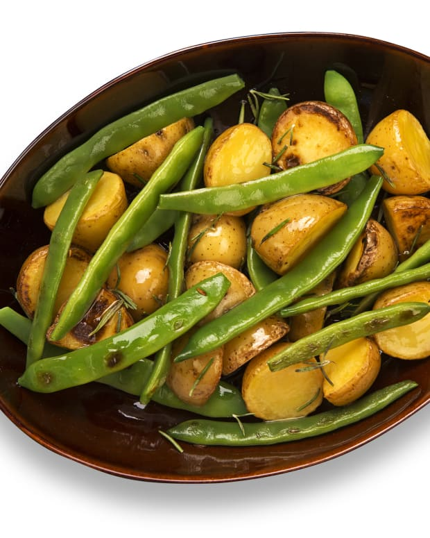 Warm Potato Salad, green beans and horseradish vinaigrette