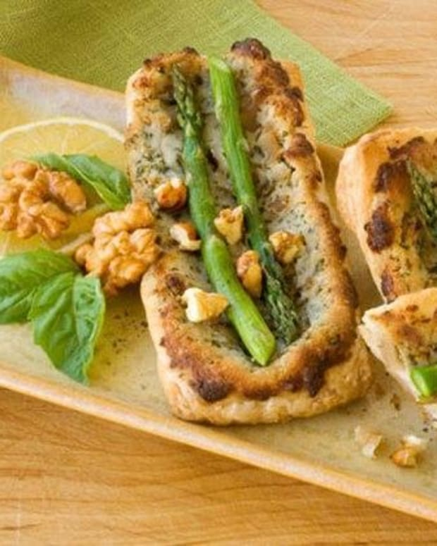 Asparagus and Walnut Puffs