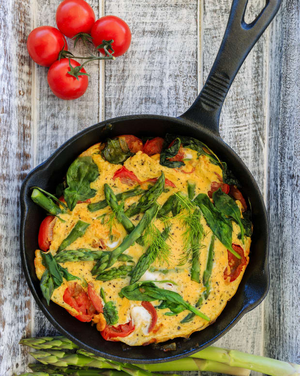 Asparagus and Sun Dried Tomato Fritata