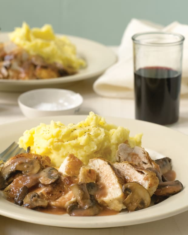 Chicken Marsala and Garlic Mashed Potatoes