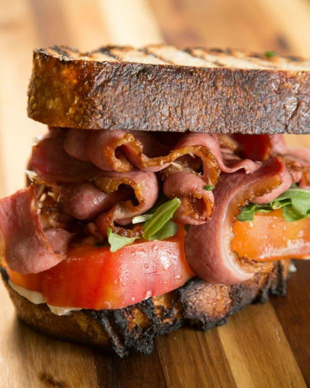 Duck Bacon Lettuce and Tomato on Artisanal Bread