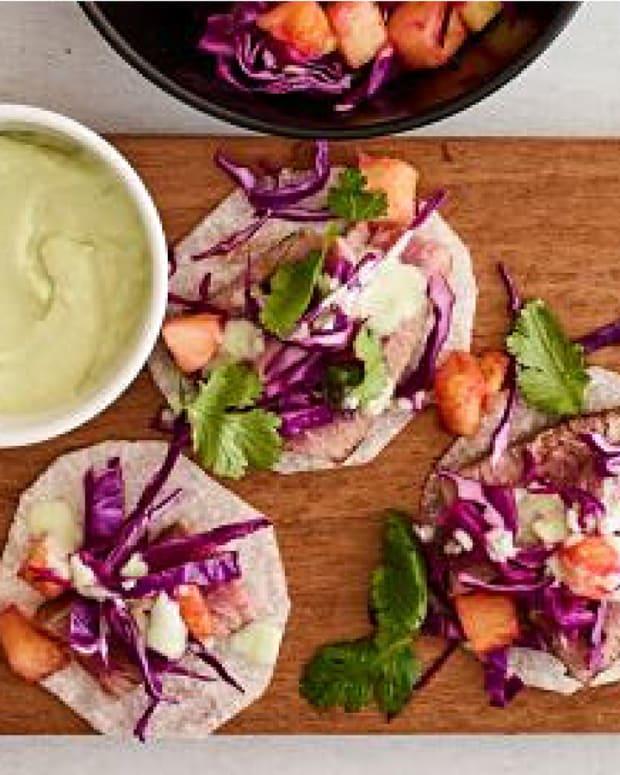 tuna jicama tacos