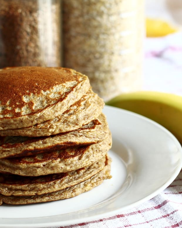 Healthy breakfast pancakes