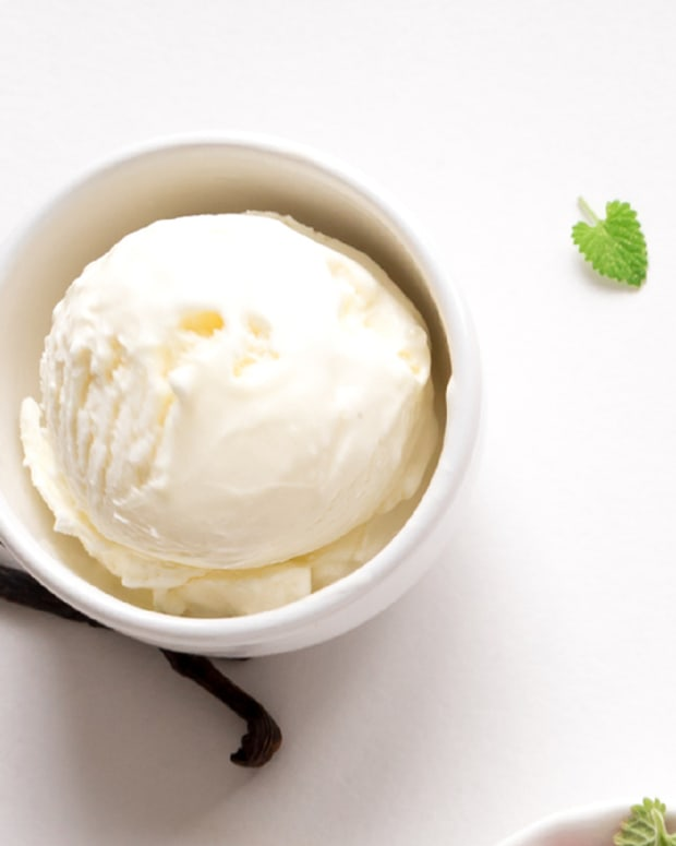 Homemade Vanilla Frozen Yogurt