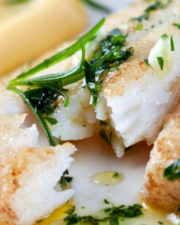 halibut poached in oil