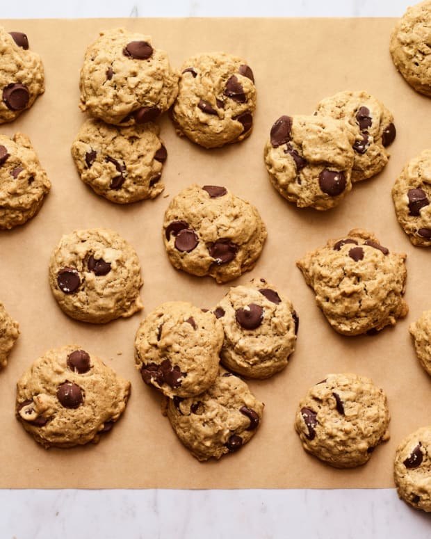 Salty Sesame Dark Chocolate Chip Cookies