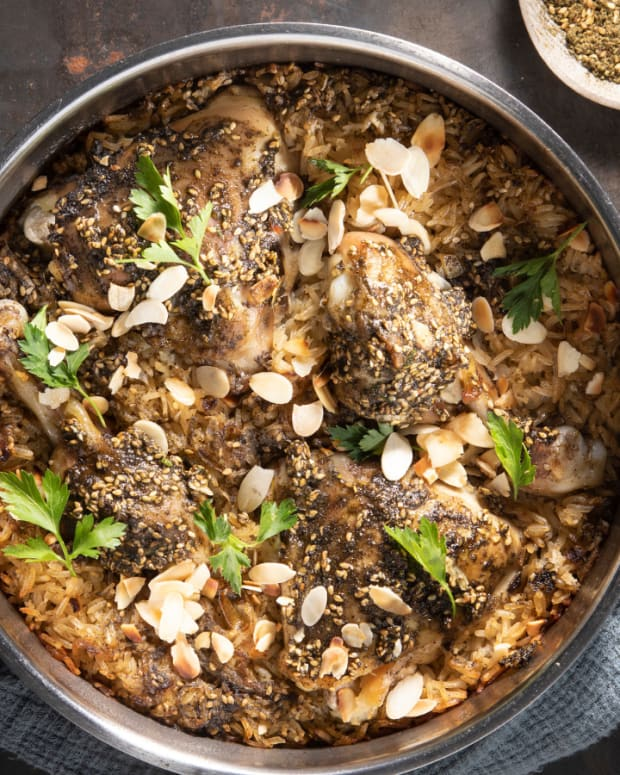 Zaatar Chicke and Rice Casserole