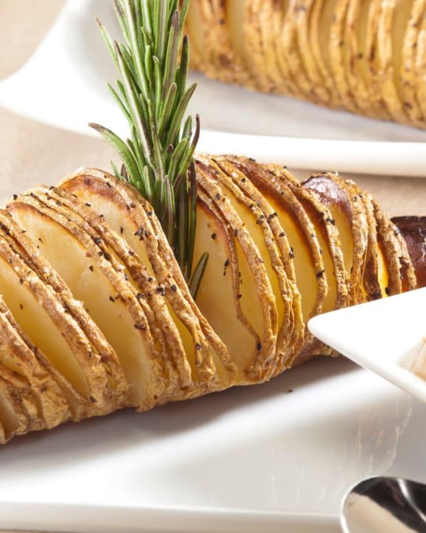 hassleback potatoes with rosemary