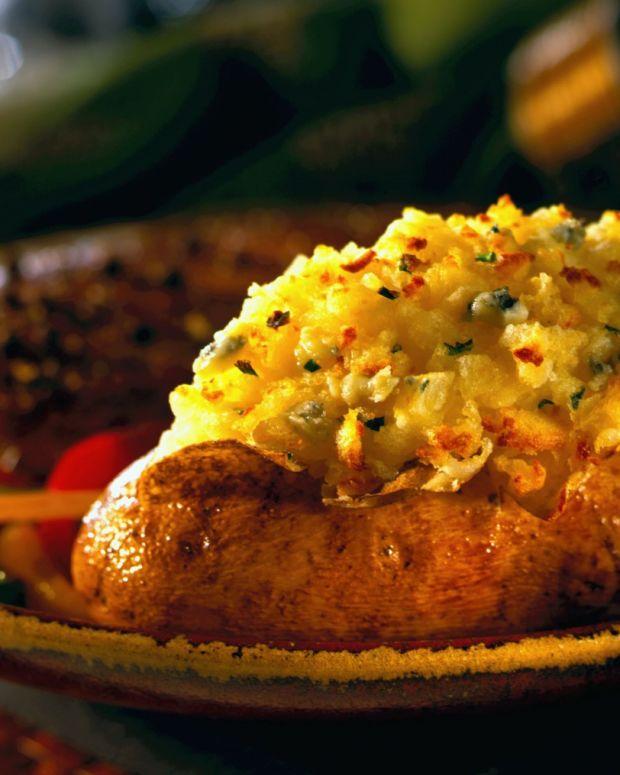 blue cheese double-baked idaho potatoes