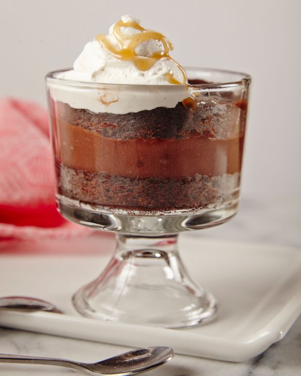 Salted Caramel Brownie Trifle