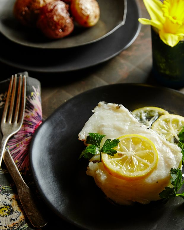 poached chilean sea bass