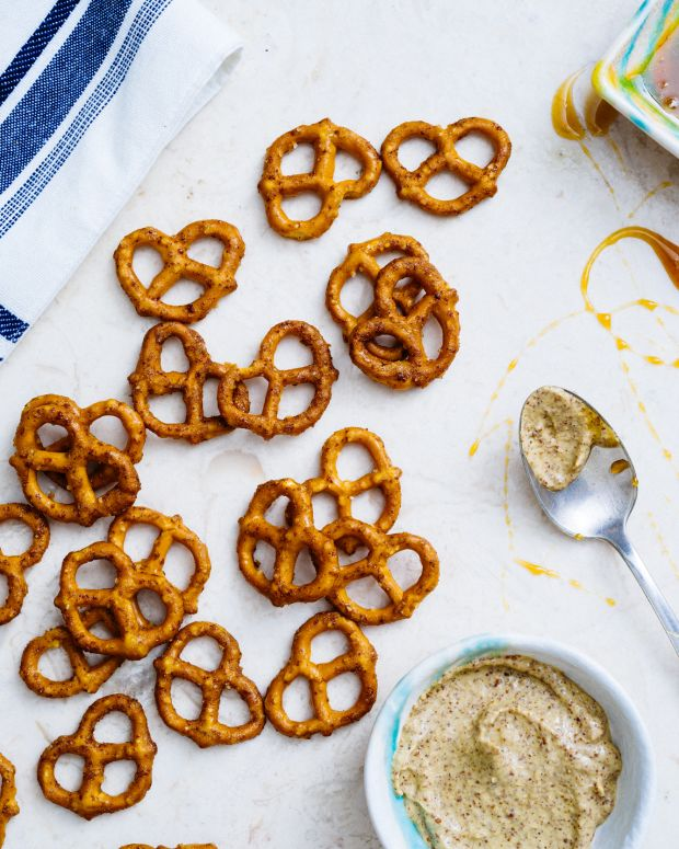 Gluten Free Sweet and Spicy Pretzels