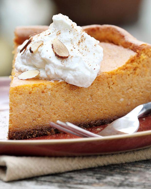 decadent pumpkin cheesecake