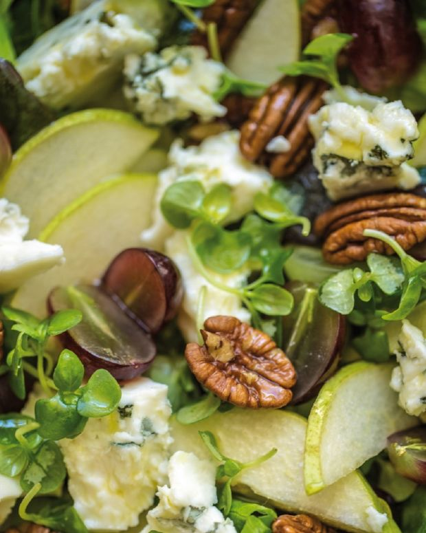 Cheese, Pear and Grape Salad