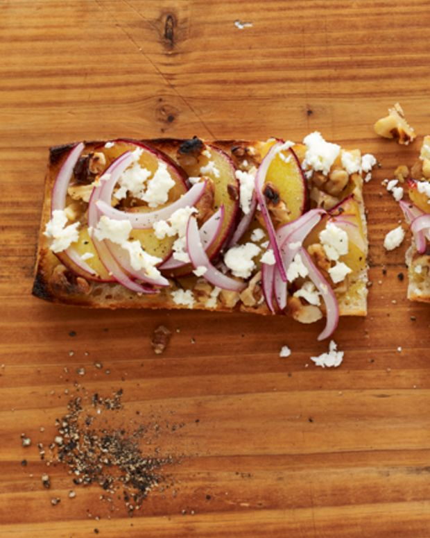 Plum and Goat Cheese Flatbread