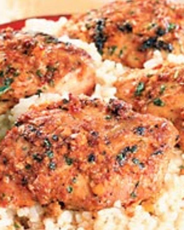 Orange Marinated Chicken Thighs