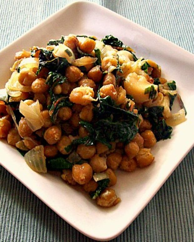 chickpeas and chard