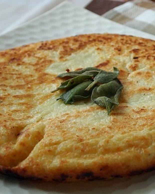 jumbo potato pancake with sage