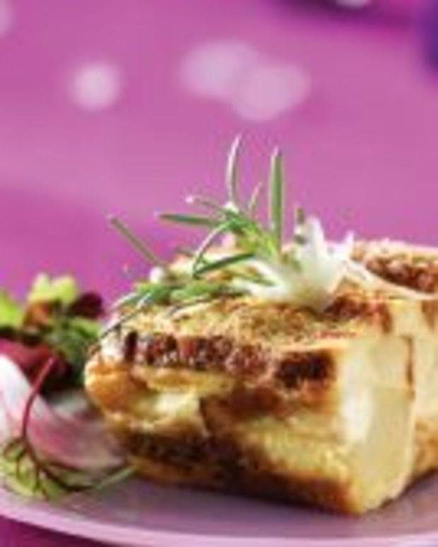 Idaho® Potato, Rosemary and Asiago Cheese Strata