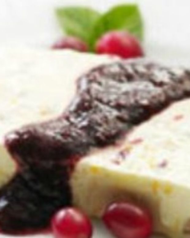 Ginger, Fig and Cranberry Semifreddo