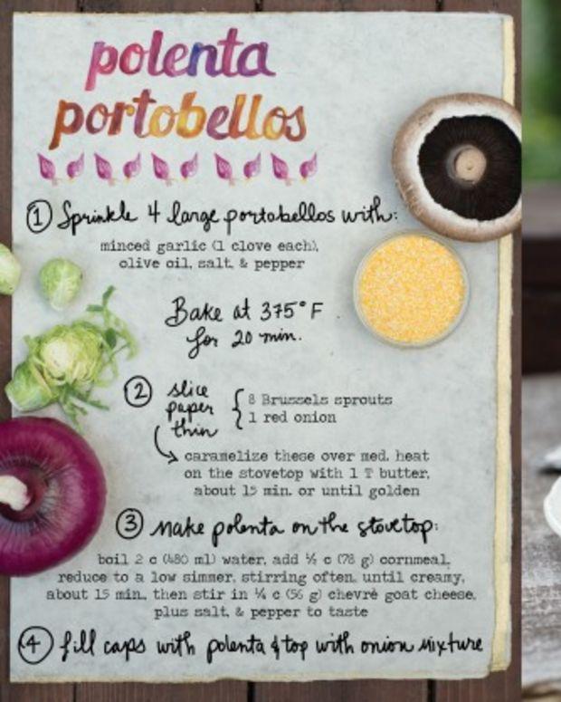 Polenta Stuffed Portobellos