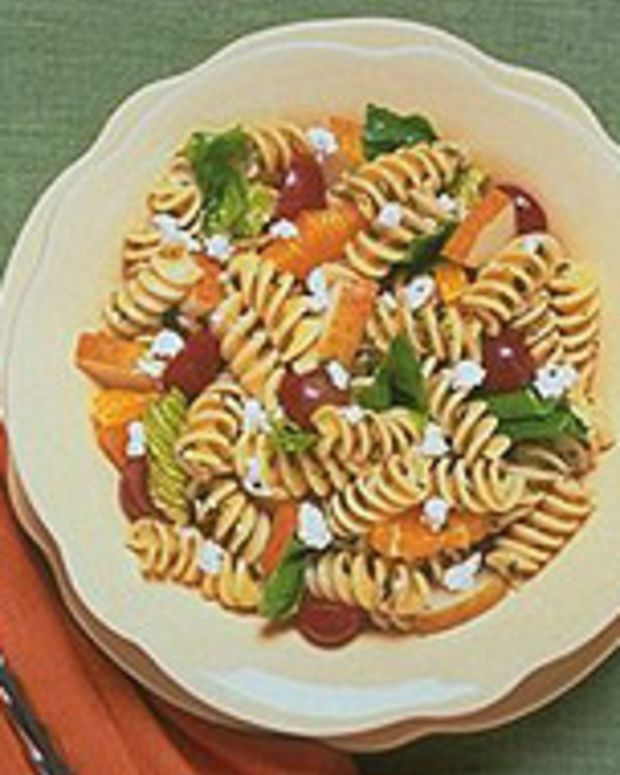 Minted Pasta and Fruit Salad