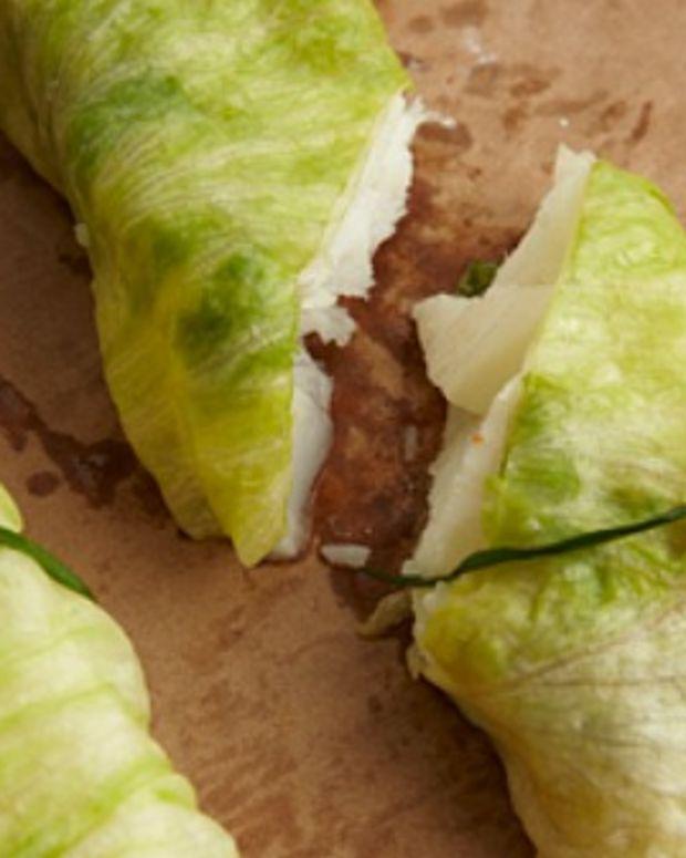 lettuce wrapped john dory fish