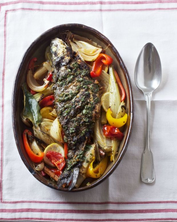 Sephardi spiced hot fish jewish cooking