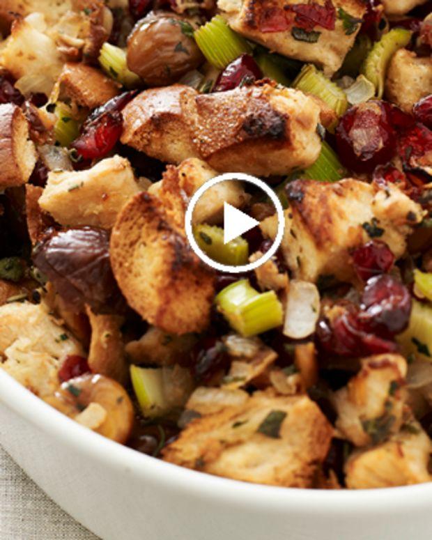 cranberry chestnut stuffing recipe video
