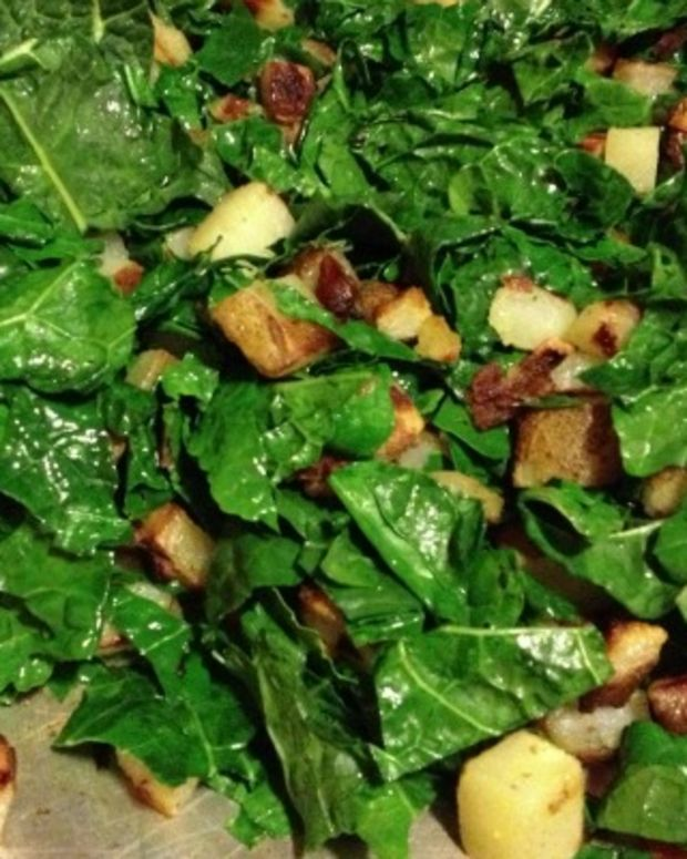 kale and potato hash