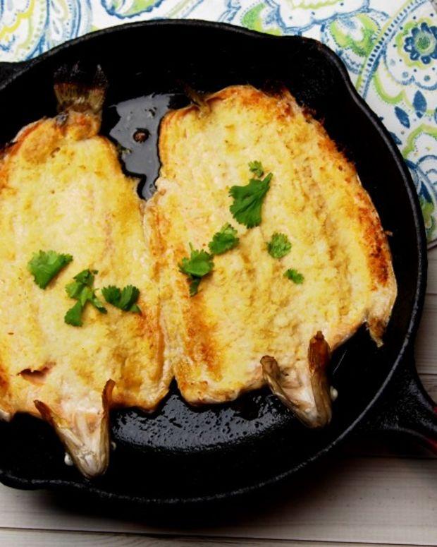Mustard Panko Butterflied Trout Fish
