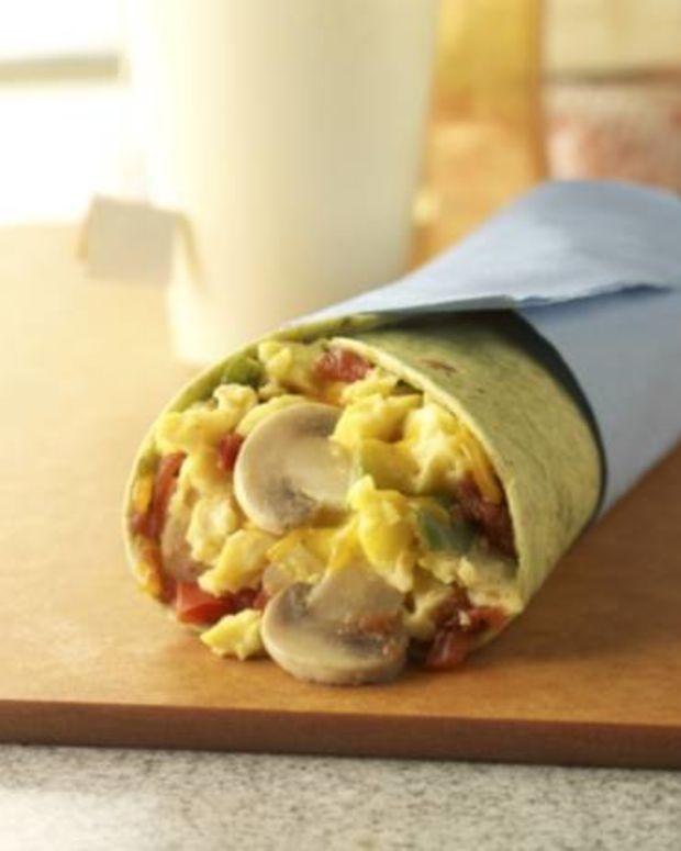 Mushroom and Egg Wrap
