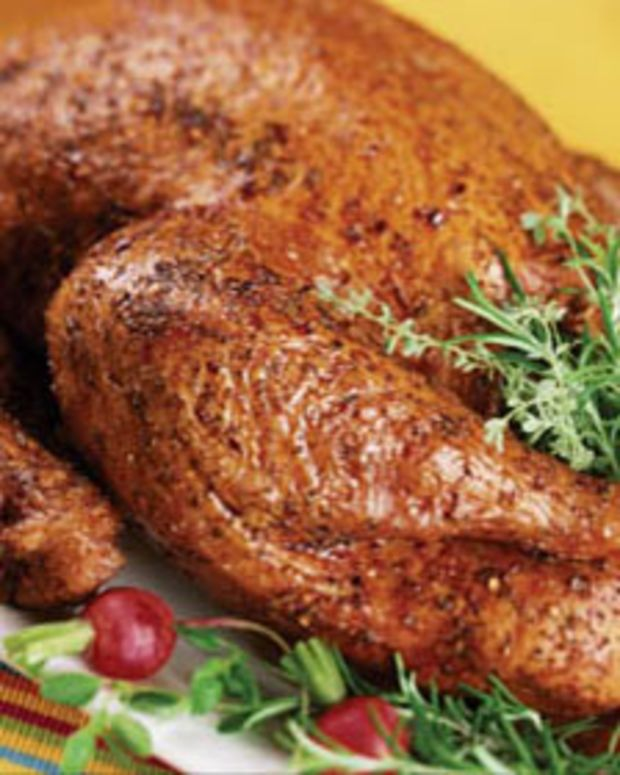 Spicy Cinnamon Deep Fried Turkey