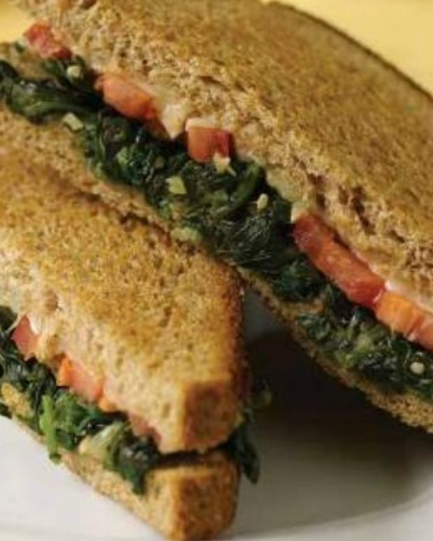 Red, White, and Green Grilled Cheese