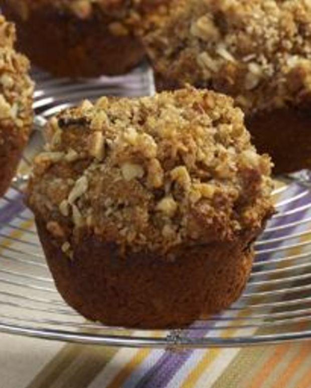 Pumpkin Walnut Bran Muffins