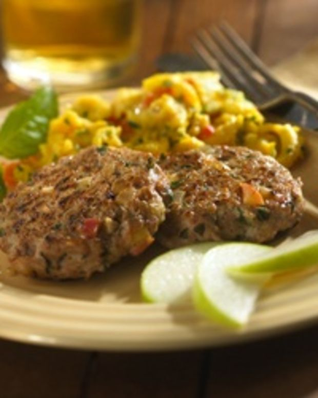 Chicken, Apple and Basil Sausage Patties