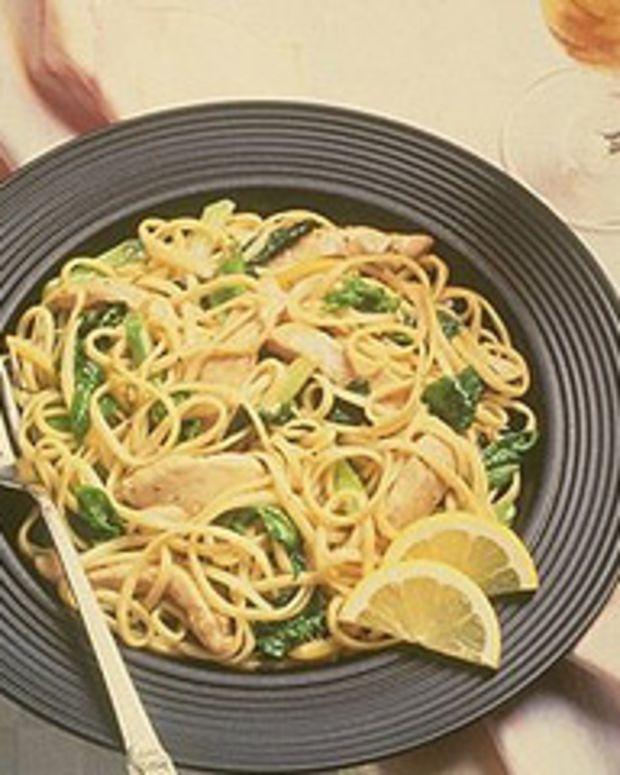 Lemon Turkey Stir-Fry and Pasta