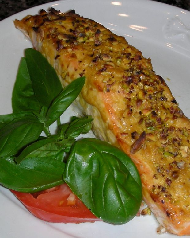 Roasted Pistachio-Crusted Salmon