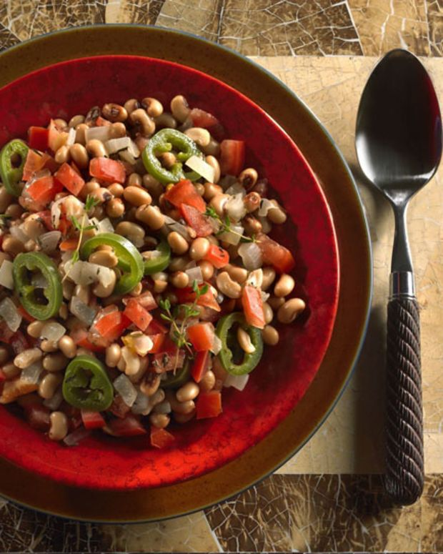 Black-Eyed Peas with Jalapeno and Tomatoes