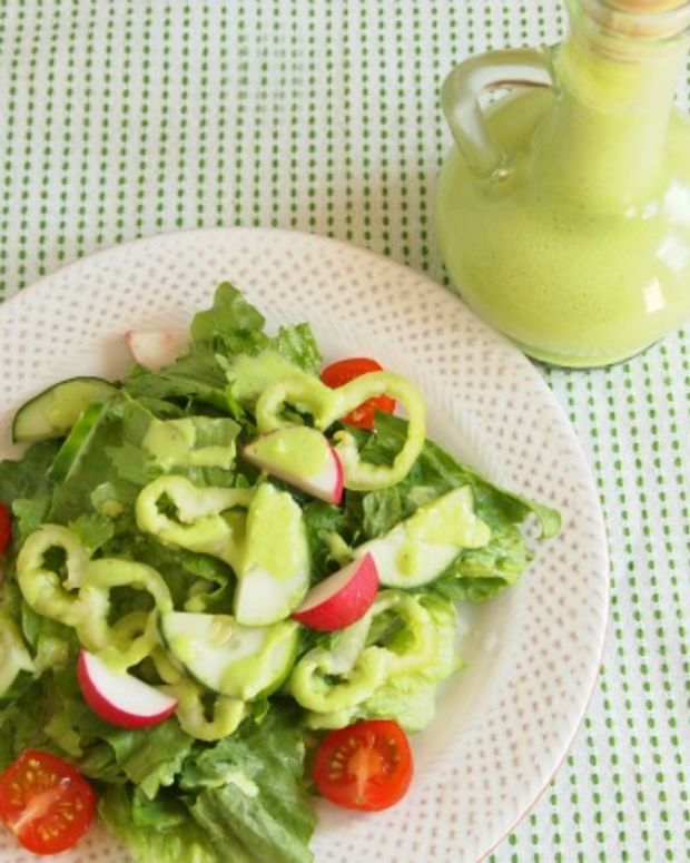 low fat creamy parsley salad dressing