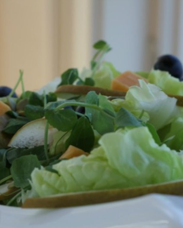 boston lettuce and cheese salad