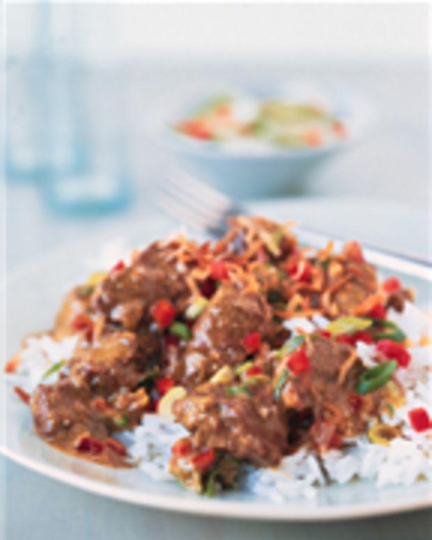 South Seas Curried Beef over Jasmine Rice