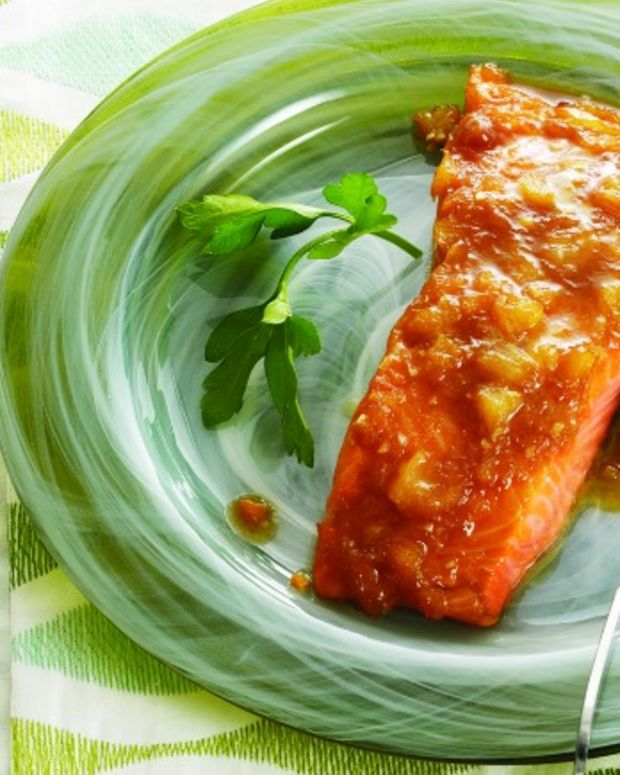 Pineapple_Maple_Glazed salmon