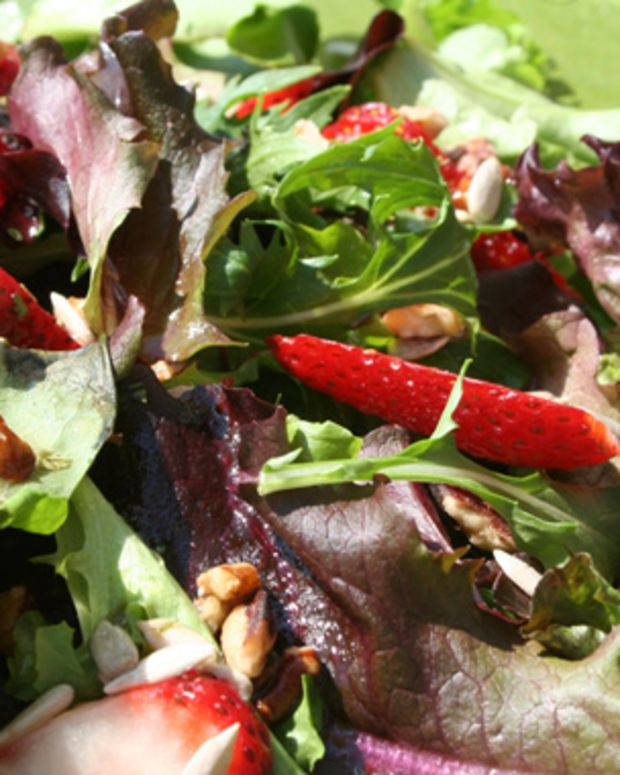 Springtime Salad with Maple Vinaigrette
