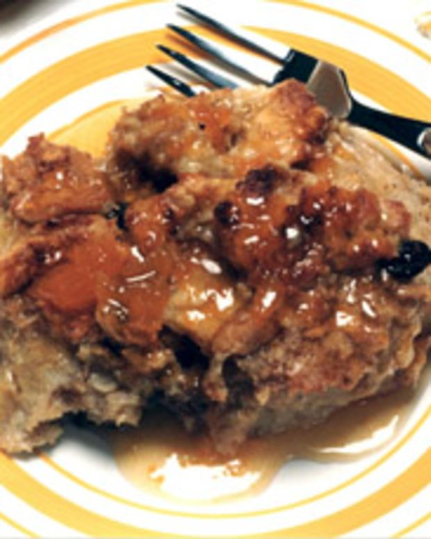 Bread Pudding & Brandy Apricot Sauce