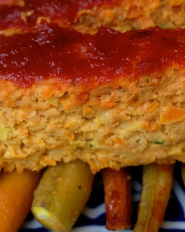 salmon vegetable loaf