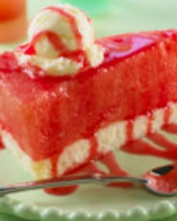 Watermelon Pie A La Mode