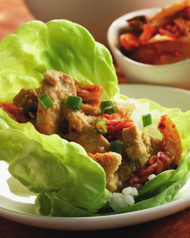 Marinated Ginger Chicken Wrap,
